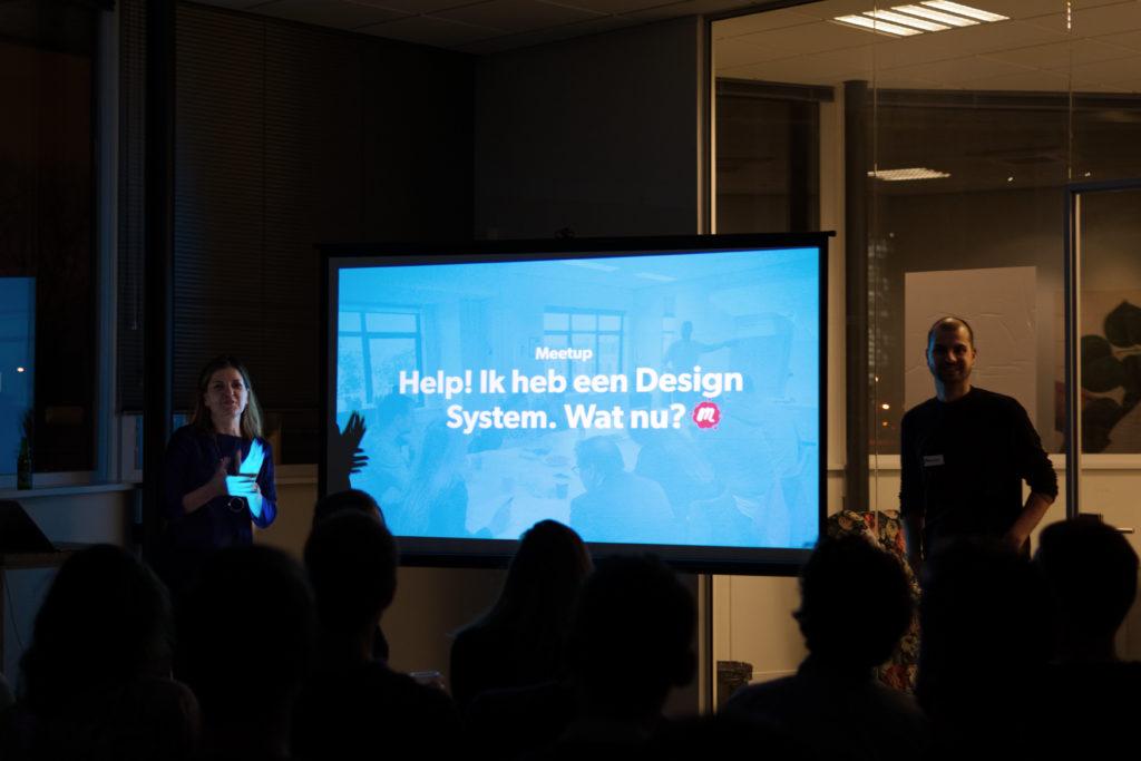 Anna en Maurice presenteren Design System Meetup