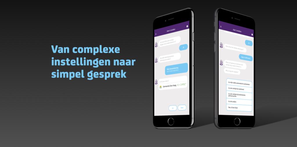 Weergave van chat functionaliteit in een telefoon.