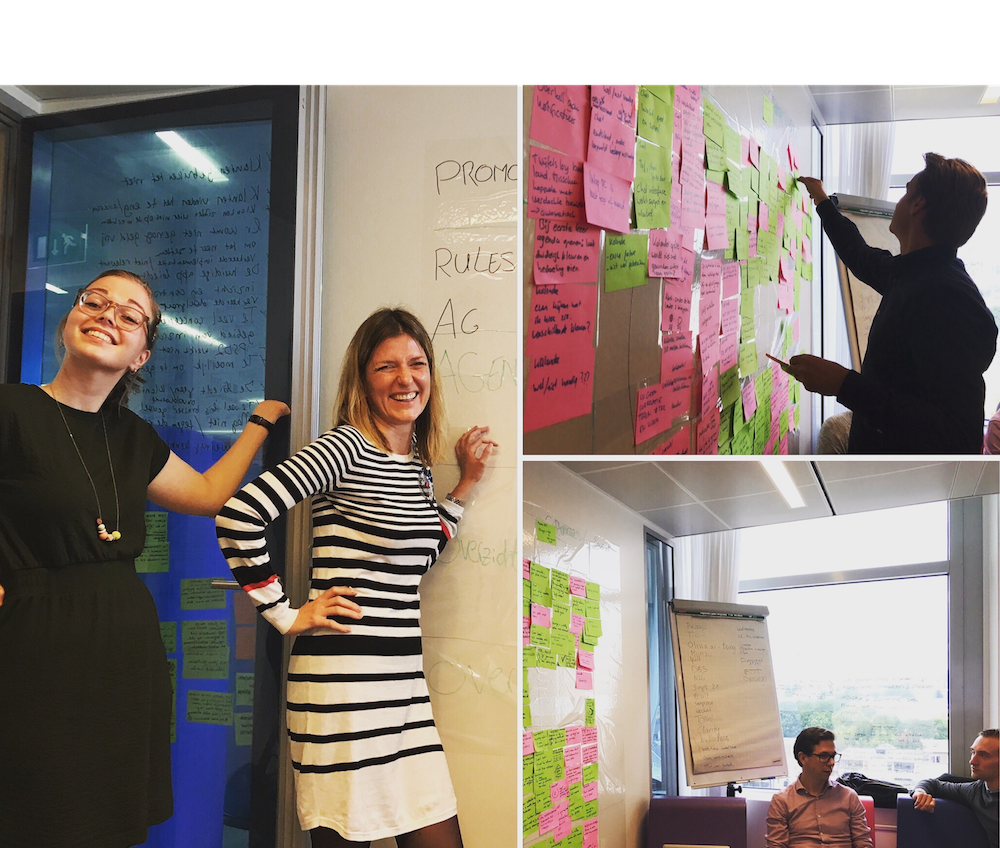 Terugblik in foto's op de design sprint